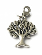 SILVER TREE OF LIFE CLIP ON CHARM - TIBETIAN SILVER - FREE P & P - COMES IN A PRETTY LITTLE ORGANZA BAG