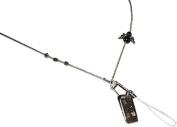 ShoreThing UK Angel,Star Silver Beaded Bead Lanyard Pretty many uses : 70cm - 80cm. Silver/Black