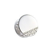Sayers London Sterling Silver Engraved Round Tie Tack
