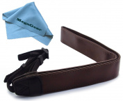 MegaGear Brown Leather Digital SLR Camera, Camcorder Neck Shoulder Straps for Canon, Nikon, for for for for for for for for for for Samsung , Olympus, Sony, Fujifilm, Panasonic