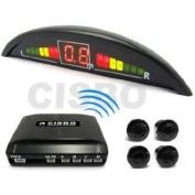 Pearl Blue Parking Reversing Sensor Kit 4 Sensors LED Display & Audio Buzzer
