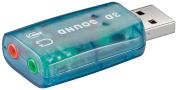 Wentronic USB A Plug to 2x 3.5 mm Stereo Jack USB 2.0 Sound Card