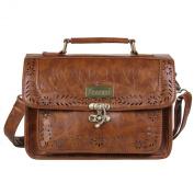 ECOSUSI Fashion Girl's Faux Leather Satchel Purse Small School Crossbody Messenger Bag Work Cross-body Bag