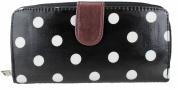 Miss Lulu Designer Oilcloth Owl Spot Polka Dots Butterfly Folded Zip Wallet Purse Bag