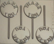 THANK YOU CHOCOLATE LOLLIPOP MOULD