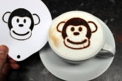 Monkey Coffee Stencil