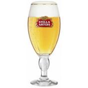 Stella Artois Chalice HALF Pint Glasses CE 10oz / 280ml (Set of 2) + 2 Beer Mats