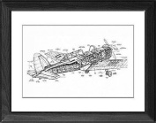 Framed Print of De Havilland Chipmunk Cutaway Drawing from Flightglobal