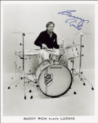 BUDDY RICH AUTOGRAPH GLOSSY PHOTO PRINT