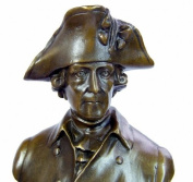 Frederick II. the Great - Bronze Bust - sign. Hermann Gladenbeck