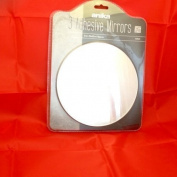 3 x Self Adhesive Round Mirrors 20cm x 20cm Bathroom Mirror