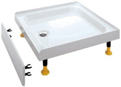 Coram Showers YD1283WHI 1200 x 800mm 3-Tiling Upstand Shower Tray