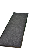 Extra Large Medium Small High Grade Top Quality Non Slip Door Mat Rubber Backed Runner Mats Rugs PVC 7mm thick Non Shedding Indoor / Outdoor Use 4 Colours 5 Sizes Made in EU AAA Grade & Quality Commercial Standard (Grey, 60x180cm
