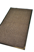 Extra Large Medium Small High Grade Top Quality Non Slip Door Mat Rubber Backed Runner Mats Rugs PVC 7mm thick Non Shedding Indoor / Outdoor Use 4 Colours 5 Sizes Made in EU AAA Grade & Quality Commercial Standard (Brown, 40x60cm