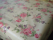 Shabby Rose PVC Wipe Clean Table cloth by Karina Home 200cm x 137cm