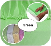 Junior Cot Bed JERSEY Fitted Sheet 160x70cm 100% Cotton - GREEN