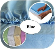 Junior Cot Bed JERSEY Fitted Sheet 160x70cm 100% Cotton - BLUE