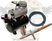 Paasche TG#2L Double Action Gravity Feed Airbrush with TC-20-T Compressor and Hose