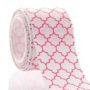 3.8cm Pink Quatrefoil Grosgrain Ribbon
