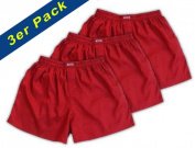(M) 3-Pack Red Boxer Shorts Underwear Men Sleepwear Satin