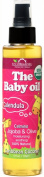 US Organic Baby Oil with Calendula, USDA Certified Organic, Caribbean Coconut, 150ml