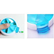 HuaYang 7-Day Round Tray Pill Box Container Dispenser Medicine Vitamins Organiser Case