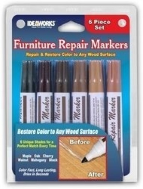 Set of 6 Assorted Furniture Repair Markers Stain Scratch Floor Pens, Pack of 5