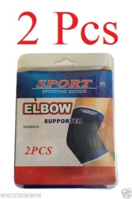 wennow 2 Protection Elbow Elastic Support Brace Sport Pad for Tendonitis and Arthritis