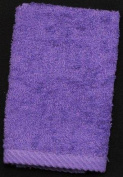 Pair of Face Cloths in a Purple Colour