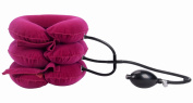 Cervical Air Neck Traction Device For Head & Shoulder Pain, Red, Three Tubes