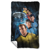 Among The Stars -- Star Trek -- Fleece Throw Blanket