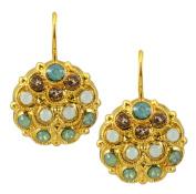 Mariana 24k Gold Plated. Crystal Peacock Drop Earrings