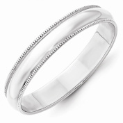 Top 10 Jewellery Gift 10KW 4mm LTW Milgrain Half Round Band Size 10