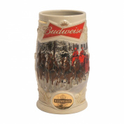 Boelter Brands Budweiser 2014 Holiday Ceramic Stein, 920ml, White