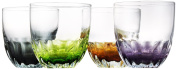 Artland Solar Double Old Fashioned, Assorted, Set of 4