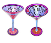 "Young's Inky and Bozko Martini ""Girls' Night"" Glass"