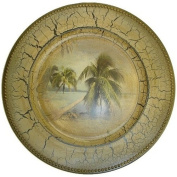 Palm Tree Tropical Design Large Charger Plate