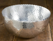 Large 36cm Hammered Aluminium Petal Bowl by KINDWER
