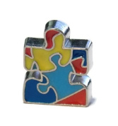 Autism Awareness Puzzle Piece Charm for Floating Lockets - Old School Geekery Brand Locket Charms - Mother of Aspie Autistic Gift