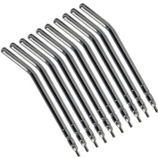 10 pcs Metal Alloy Spray Nozzles Tips for 3-Way Dental Air Water Syringe Tube by Oubo Dental