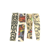 Set of 4 NYLON TATTOO SLEEVES tribal + inked Costume