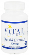 Vital Nutrients - Reishi Mushroom Extract 500 mg 60 caps