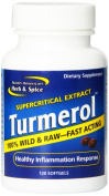 North American Herb and Spice Mineral Supplement Turmerol Gel Capsules, 120 Count