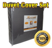 Mezzati Luxury Duvet Cover 3 piece Set - Softest, Cosiest, Highest Quality Brushed Microfiber - Wrinkle Resistant - Hypoallergenic - Prestige 1800 Collection Bedding