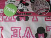 Disney Minnie Mouse Love Twin Sheet Set