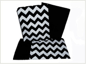 Baby Doll Bedding Chevron Pillowcase and Sheet set for Crib and Toddler bed, Black