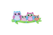 Young's Owl Wood Triple Wall Hook, 47cm