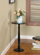King's Brand PS22 Plant Stand Accent Side End Table, Black Finish