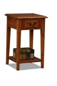 Leick Shaker Square End Table, Medium Oak