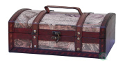 Old World Map Treasure Chest - 30cm with Top Handle